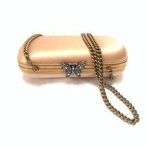Gucci Broadway Butterfly Handbag Clutch in Pink
